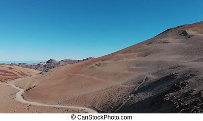 Aerial view of the Teide National Park