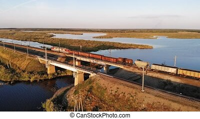 Aerial view of the train
