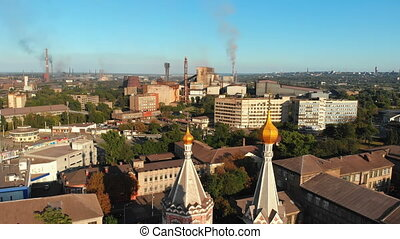 Aerial view of the Ukrainian Christian Church Located in...
