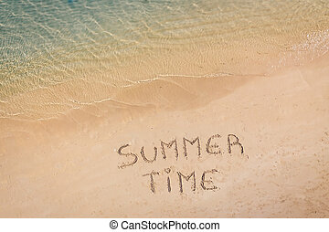 """Aerial view of the written """"Summer Time"""""""