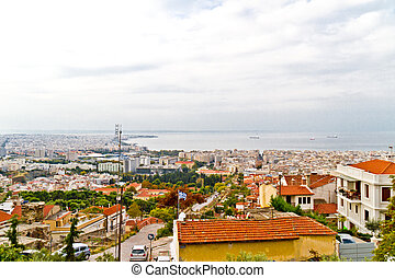 Aerial view of Thessaloniki, Greece