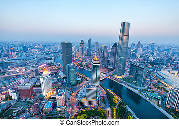aerial view of tianjin