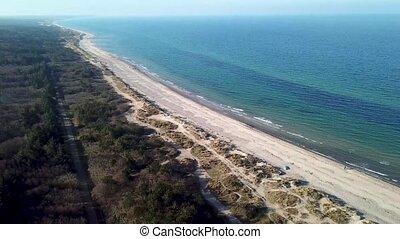 Aerial view of Tisvildeleje Beach, Denmark - Tisvildeleje,...