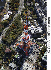 Aerial view of Tokyo Tower areas
