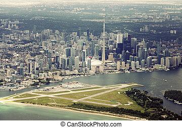 Aerial view of Toronto. Toronto, Ontario, Canada