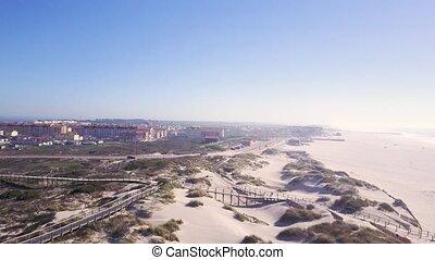 Aerial view of Torreira beach