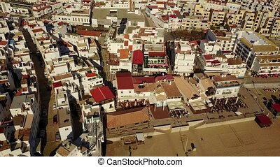 Aerial view of touristic Albufeira, Algarve, Portugal