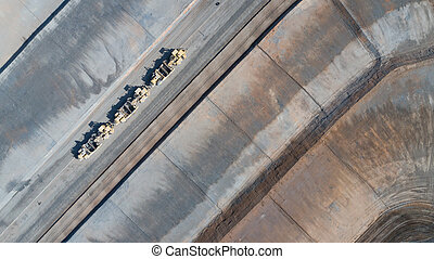 Aerial View Of Tractors On A Housing Development...