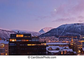 Aerial view of Tromso