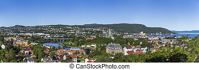 Aerial view of Trondheim
