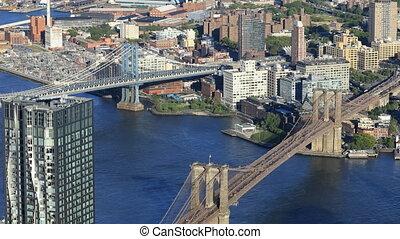 Aerial view of Two Bridges area of Manhattan