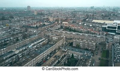 Aerial view of typical residential area in Rijnbuurt...