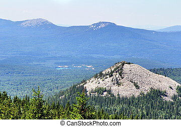 Ural Mountains - Aerial view of Ural Mountains