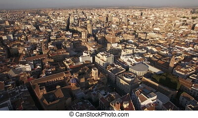 Aerial view of Valencia, Spain