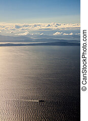 Aerial View of Vancouver Island and the Pacific