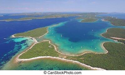 Aerial view of Veli Rat on the Adriatic island Dugi Otok