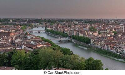Aerial view of Verona. Italy