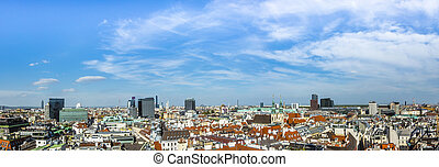 Aerial View Of Vienna City Skyline - View of Vienna city...