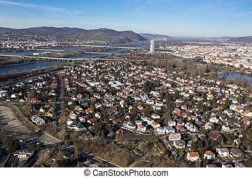 Vienna cityscape in winter