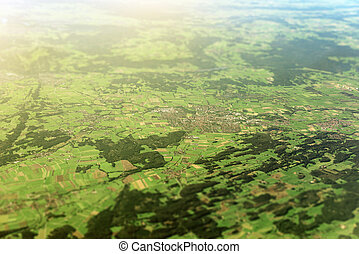Aerial view of villages in Germany.