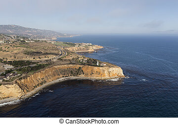Aerial View of Vincent Point in Rancho Palos Verdes California