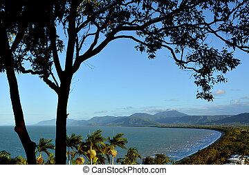 Aerial view of Wangetti Beach from Rex Look Queensland  Australia