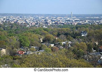 Aerial View of Washington DC