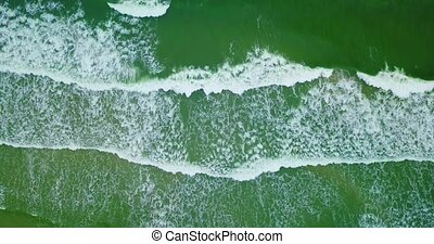 Aerial view of waves on Baltic sea