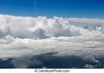 aerial view of white clouds