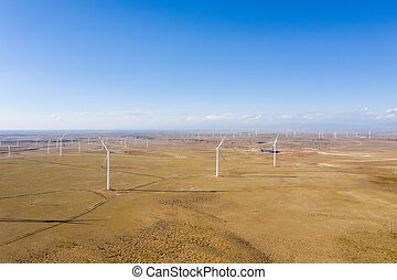aerial view of wind farm