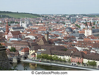 aerial view of Wuerzburg