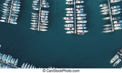 Aerial View of Yacht Club and Marina in Croatia, 4K. Frapa