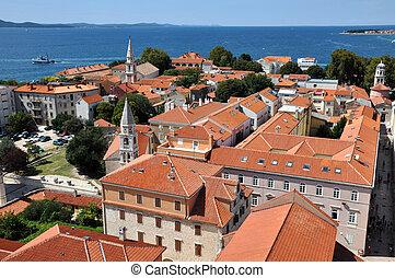 Aerial view of Zadar, Croatia