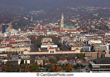 Aerial view of Zagreb