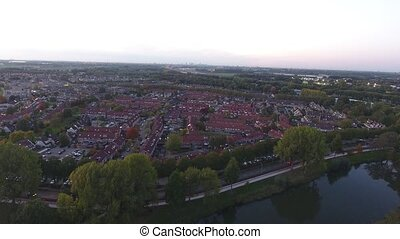 Aerial view of zwijndrecht city, Netherlands