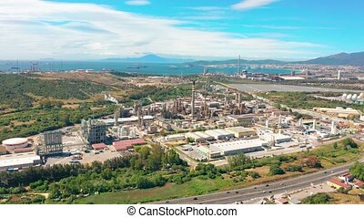 Aerial view. Oil refinery, Oil Industry. - Aerial view. Oil...