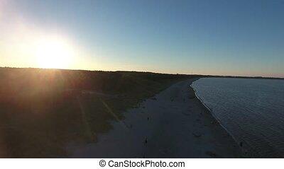 aerial view on baltic sea juliusruh island ruegen