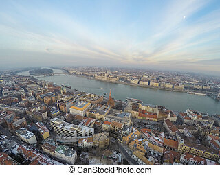 Aerial view on Budapest