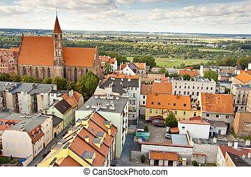 Aerial view on Chelmno - Poland.