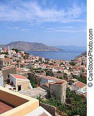 Aerial view on Greek island