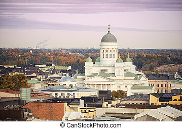 Aerial view on Helsinki, Finland