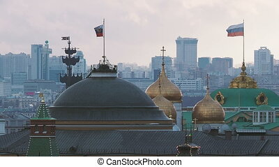 Aerial view on historic center of Moscow from Central...