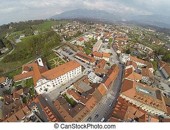 Aerial view on Kamnik in Slovenia