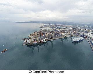 Aerial view on Koper port
