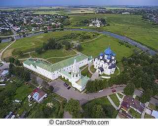 Aerial view on kremlin in Suzdal, Russia
