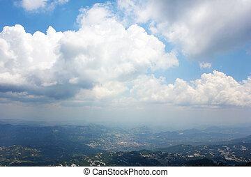 Aerial view on Montenegro hills
