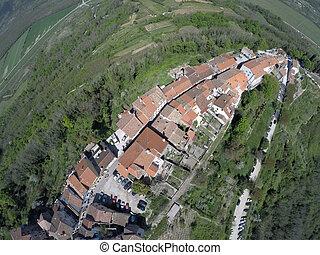 Aerial view on Motovun