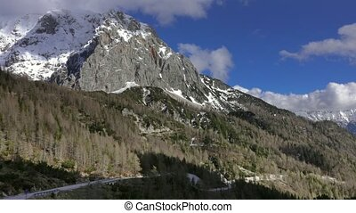 mountains in Triglav national park in Slovenia - Aerial view...