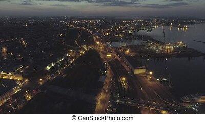 Aerial view on Odessa Sea Trade Port. Ukraine - Aerial view...