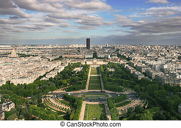 Aerial view on Paris.